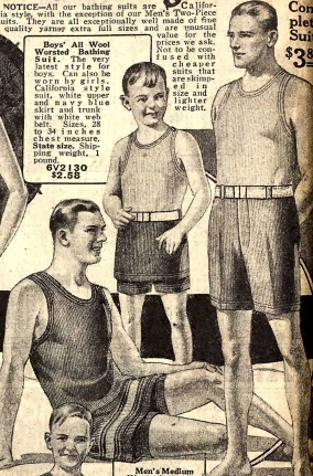 1925 one and two peice swimsuits