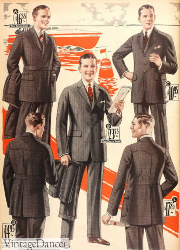 1925 sport back suits for young men