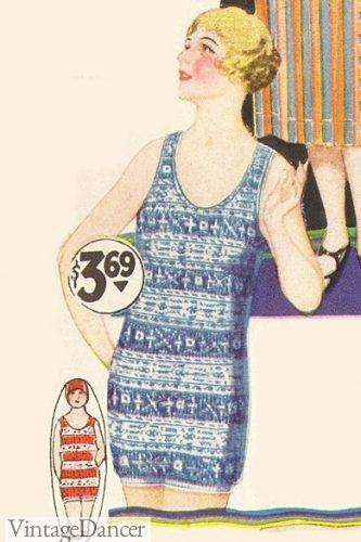 PDF Pattern Size US4UK8DE34 and US6UK10DE36 1920s Beach Suit Candy