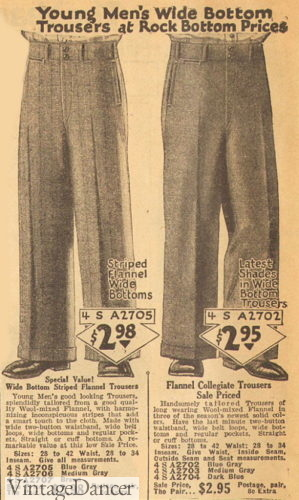 1926 wide leg pants for young men
