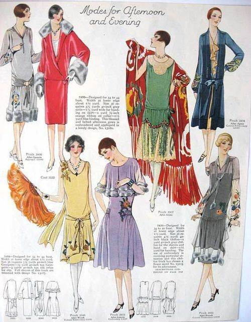 1926 afternoon, evening and party dresses