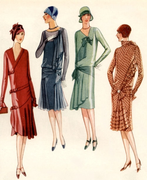 1927 afternoon styles dresses