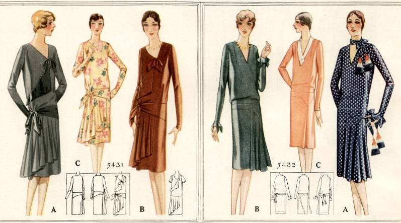 1927 winter day dresses