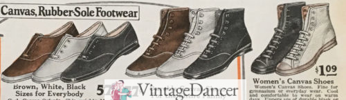 1927 low and high top canvas sneakers
