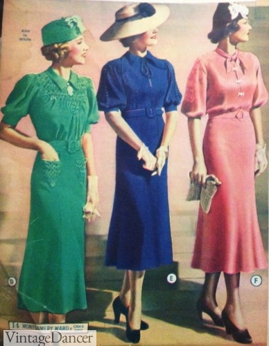 1930s afternoon dresses