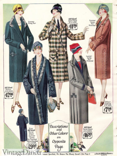 1927 wrap coats at VintageDancer