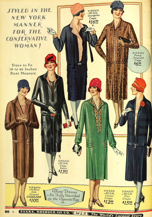 1920s womens dresses with long sleeves for mature MRs older women at VintageDancer
