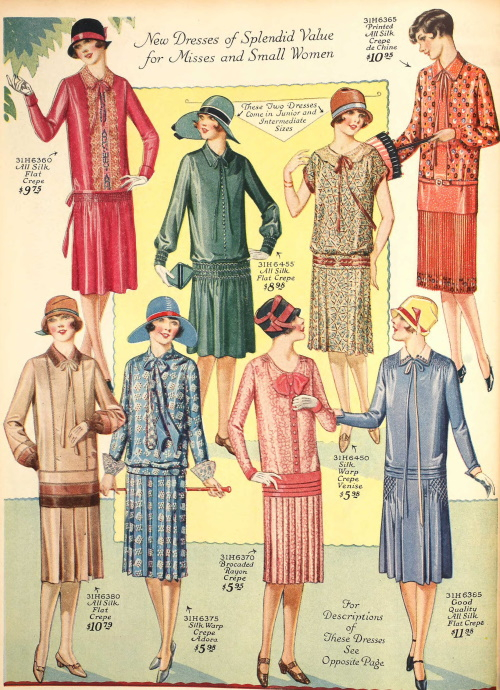 1927 daytime dresses women fashion in the 20s at VintageDancer