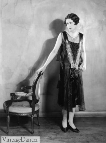 1927 drop waist evening dress