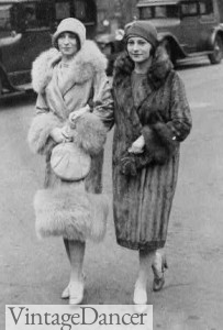 1920s fur coats and capes at VintageDancer