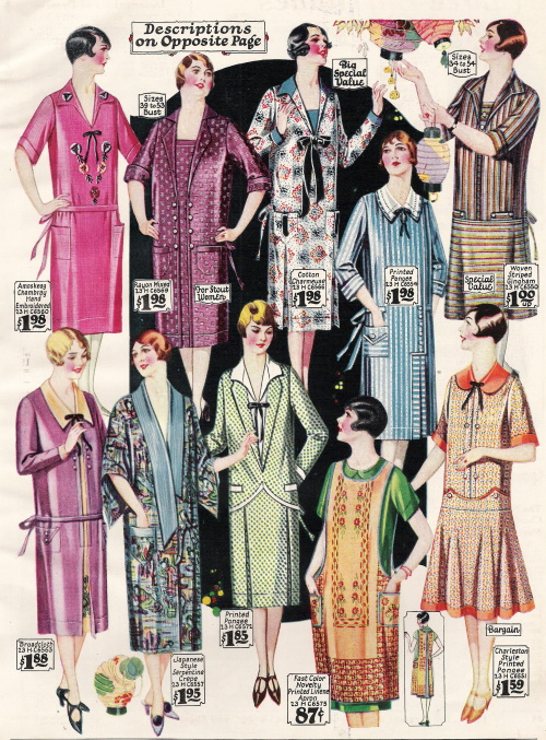 1927 house/day dresses and aprons