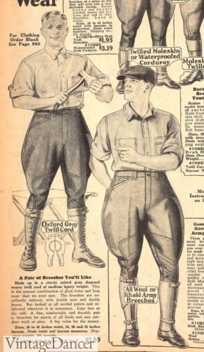 1927 casual, sport or work breeches