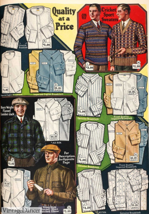 1927 shirts, sweaters and jackets
