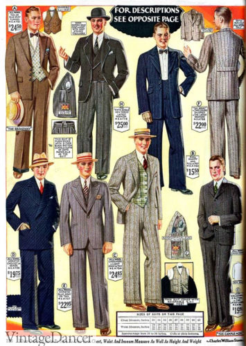 1927 colorful suits and vests