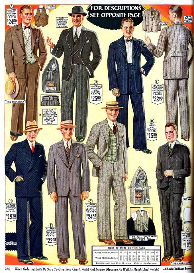 1927 suits with unique vests