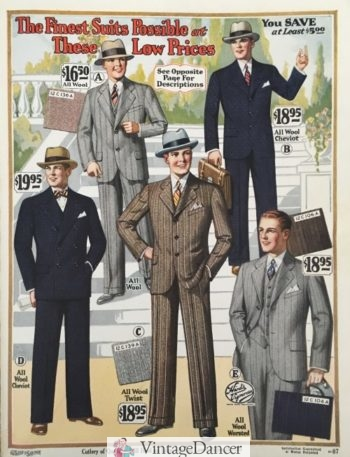 1928 wide fit suits with stripes