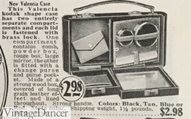 1928 vanity box with inside compartments