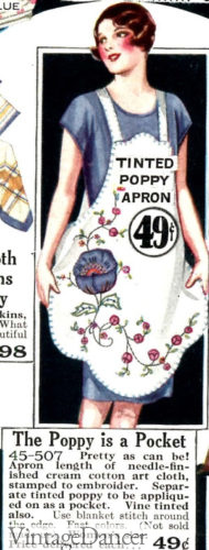 1928 decorated apron
