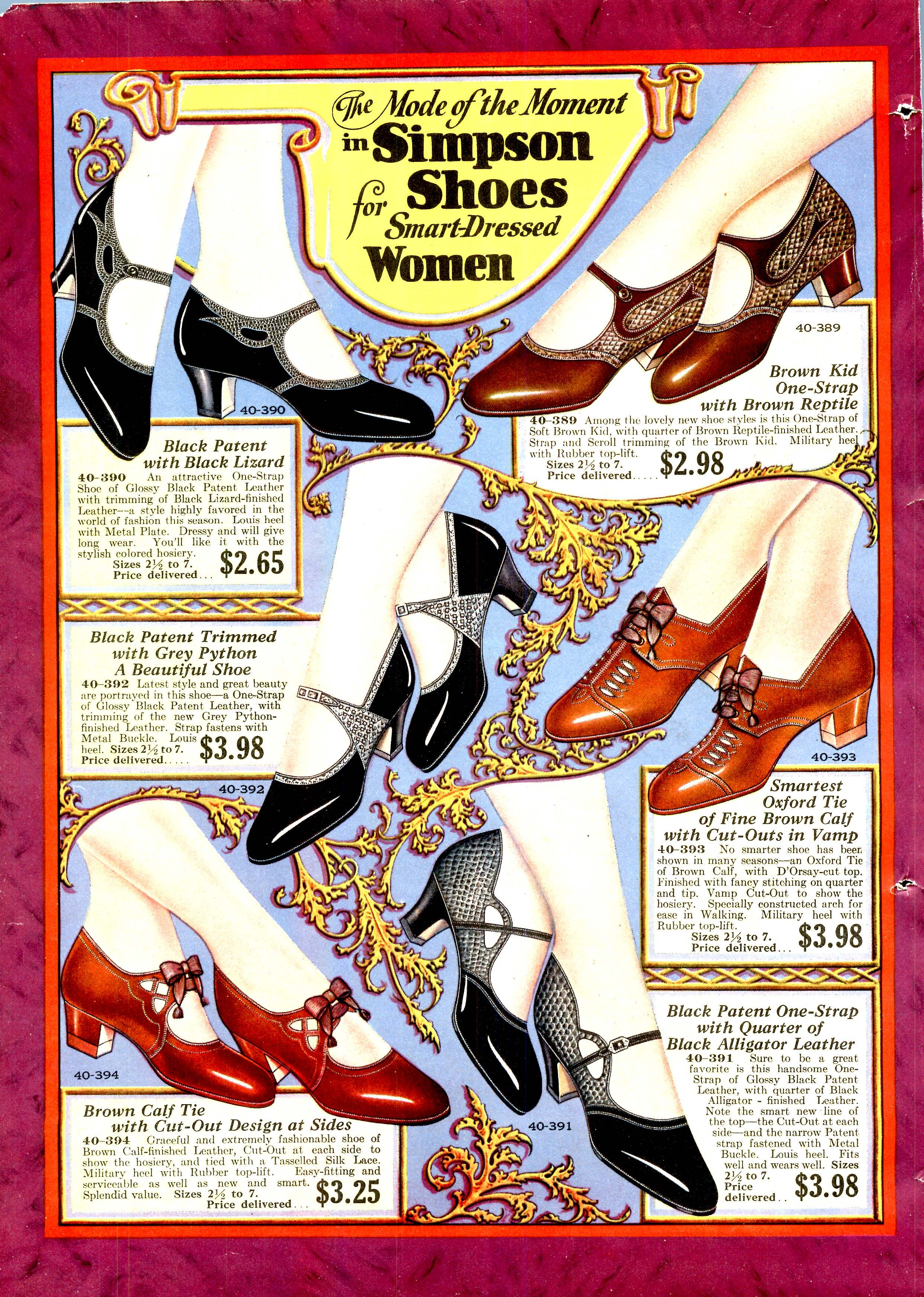 Art Deco Shoes Styles of the 1920s and 1930s