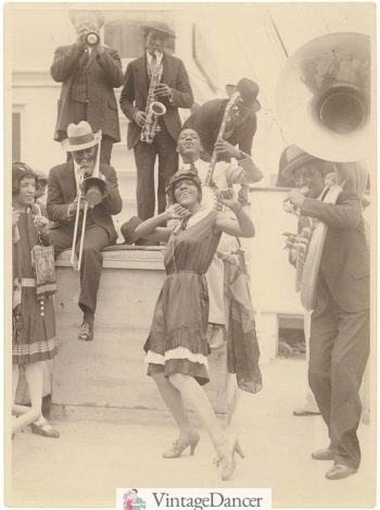 1928 The Colored Idea Band of Sonny Clay. The band entered Sydney Harbour playing their newly composed Australian Stomp on deck