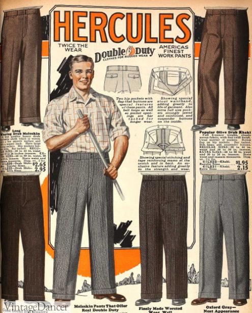 1928 mens work pants