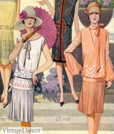 1928 spring two piece dresses