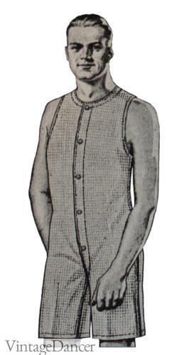 1920s mens underwear summer union suit