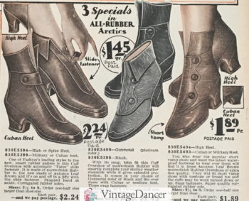1929 button or zip up overboots at VintageDancer