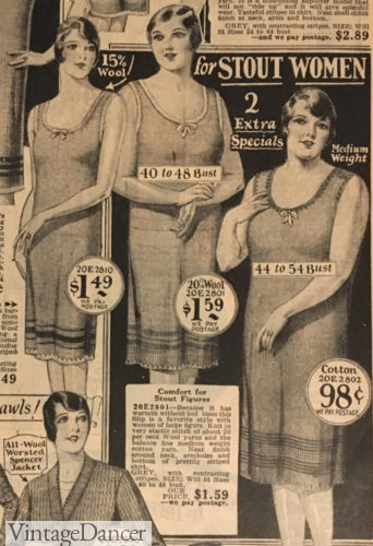 1929 knit slips winter underwear lingerie women plus size