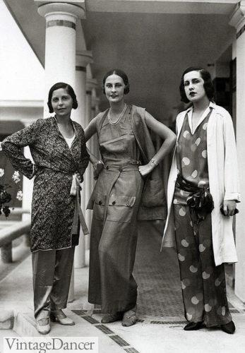 1929 silky beach pajamas
