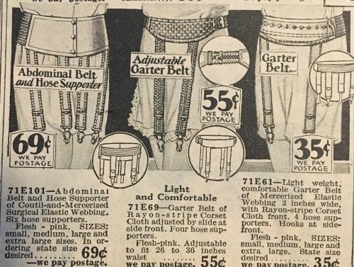 1929 garter belts