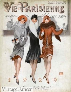 1929 Coats. 1920s style coats for sale online. Shop VintageDancer.com