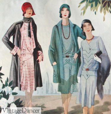 1928 spring coats with dresses