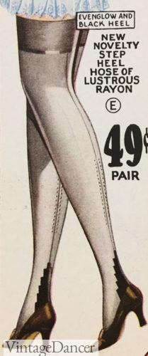 1929 single step up heel at VintageDancer