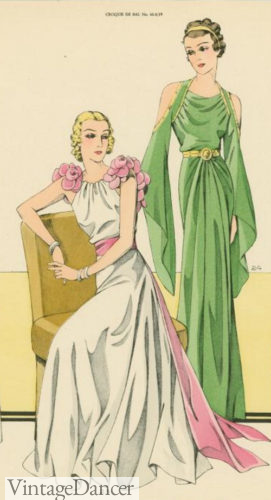 1930 grecian evening dress