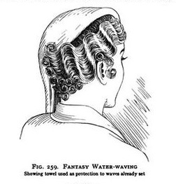 Waves ending with tight curls are pinned to the head 1930