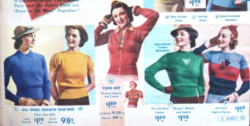 1930s womens sweaters
