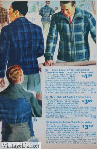 1938 men's wool sport jackets
