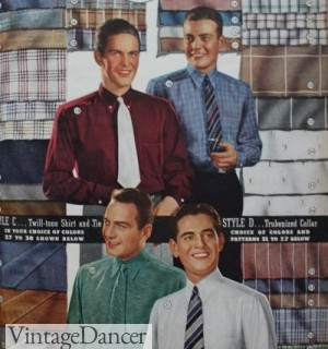 1930s men's dress shirts colors and patterns. More at VinatgeDancer.com