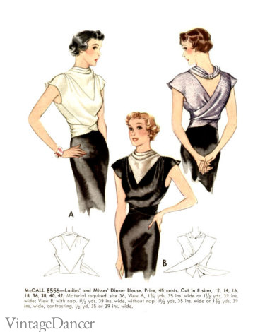 1930s sleeveless evening tops blouses party cocktail attire