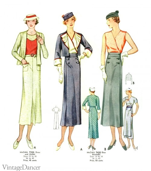 Sleek lines dominated the 1930s silhouette