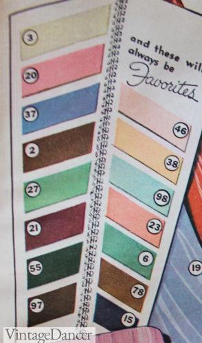 1930 pastels fashion colors