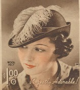 1930s Ostrich feather EE or bowler style hat