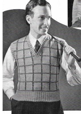 Men's Vintage Sweater Vest History 1910s,1920s,1930s, 1940s