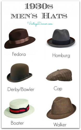 1930s Men's Hat Styles