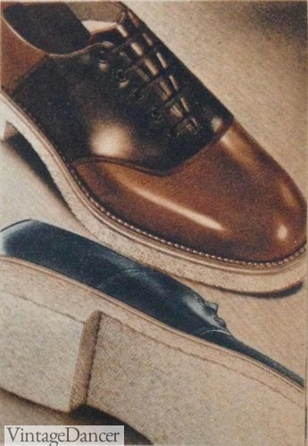 1930s Saddle shoes with a crepe sole