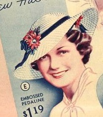 1930s straw picture hat