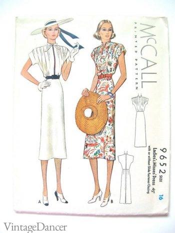 McCalls 1930s sun dress pattern