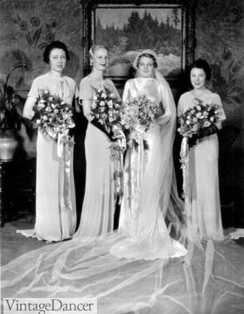 1930s wedding party