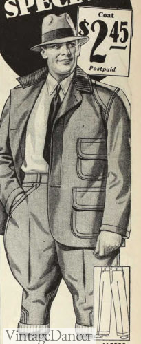 1931 workwear with breeches and matching jacket